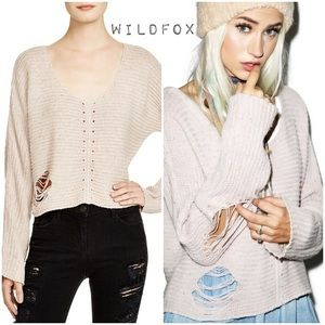 Wildfox Terra Cropped Sweater M